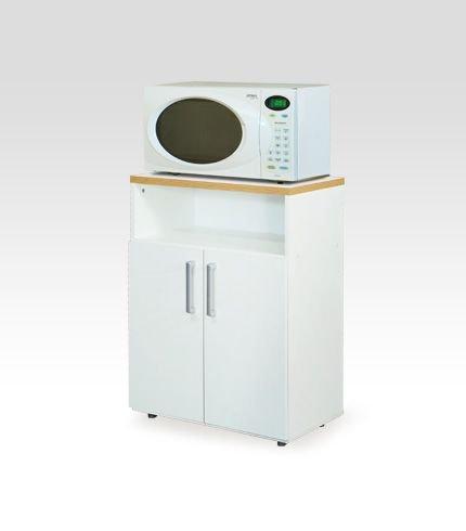 Mueble para microondas con 2 estantes y 2 puertas dielfe for Muebles para microondas ikea