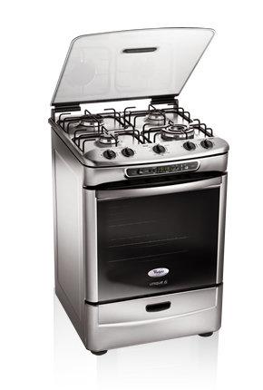 Cocina a gas 4 hornallas con horno whirlpool wf560b - Cocina con horno ...